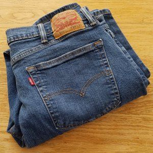 LEVIS 505 Mens Blue Jeans Size 37 x 29 Straight -